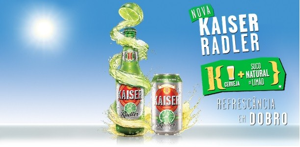 Kaiser Radler traz esquima para provar sua refrescancia em dobro