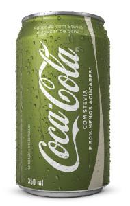 Lata de Coca-Cola com Stevia
